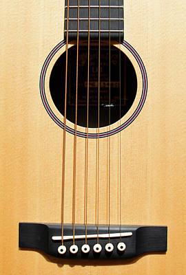 Acoustic Guitar Photograph - Acoustic Guitar V2 by Rospotte Photography
