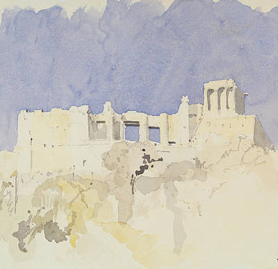Acropolis   Athens Print by Charlie Millar