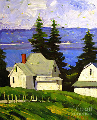 View Across Lake Shafer Original by Charlie Spear