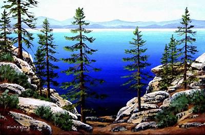 Across Lake Tahoe Print by Frank Wilson