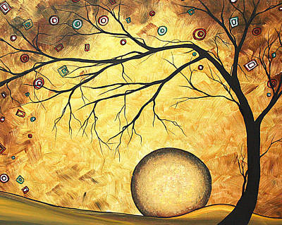 Across The Golden River By Madart Print by Megan Duncanson