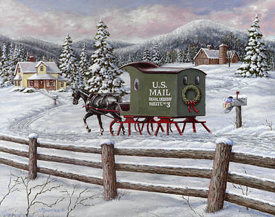 Wagon Painting - Across The Miles by Richard De Wolfe
