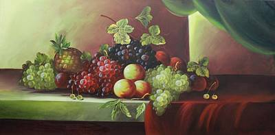 Still Life Painting - Acrylic Msc 114 by Mario Sergio Calzi