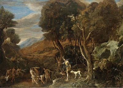 Painting - Actaeon Transformed Into A Stag by Domenico Gargiulo