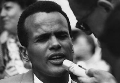Actor And Singer Harry Belafonte Print by Everett