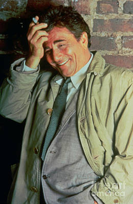 Peter Falk Photograph - Actor Peter Falk As The Famous Television Detective Columbo by Pd