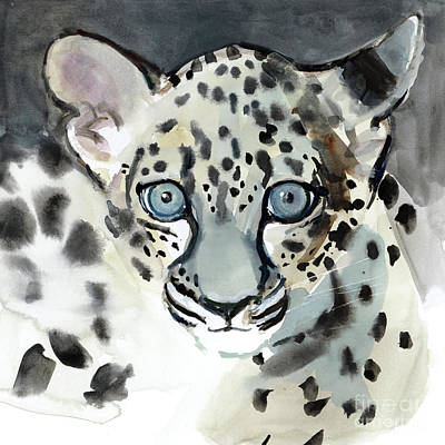 Leopard Drawing - Acuity by Mark Adlington