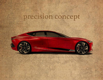 Concept Mixed Media - Acura Precision Concept Art by Design Turnpike