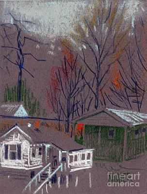 Acworth House Along The Tracks Print by Donald Maier