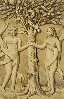 Adam And Eve Print by Joesph Manning