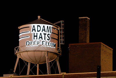 Dallas Photograph - Adam Hats Deep Ellum V2 by Rospotte Photography