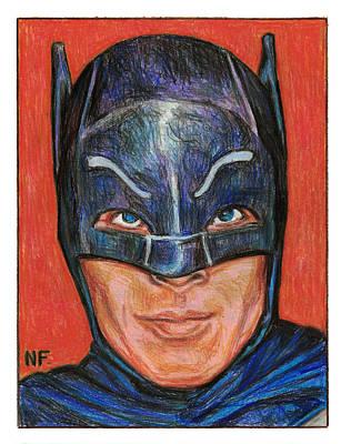 Dc Comics Drawing - Adam West Is Batman by Neil Feigeles