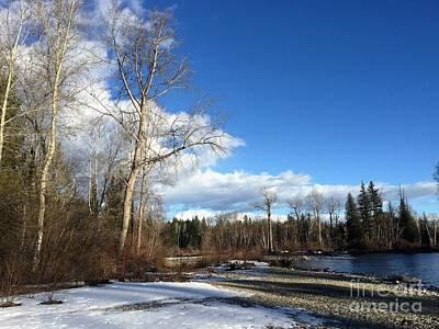 Ladnscape Photograph - Adams River by Victor K