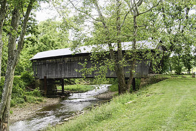 Old Country Roads Photograph - Adams San Toy Covered Bridge by Phyllis Taylor