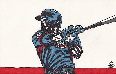 Chicago Baseball Drawing - Addison Russell 1 by Jeremiah Colley