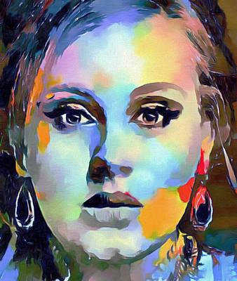 Adele Digital Art - Adele Colors Portrait by Yury Malkov