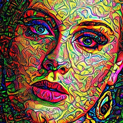 Adele Digital Art - Adele Colors by Yury Malkov
