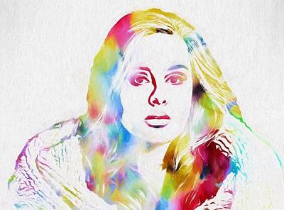 Adele Mixed Media - Adele by Dan Sproul