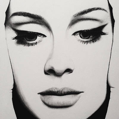 Adele Drawing - Adele Drawing by Abdulrahman Almalki