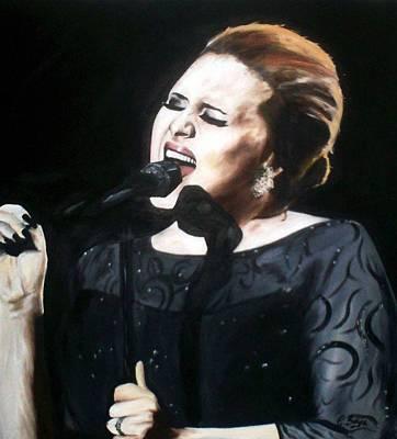 Adele Painting - Adele by Gary Boyle