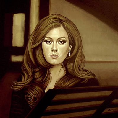 Adele Painting - Adele Gold by Paul Meijering