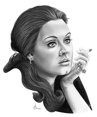 Adele Drawing - Adele by Murphy Elliott