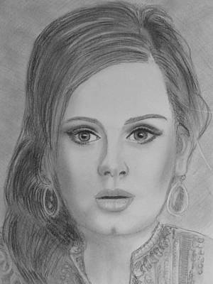 Adele Drawing - Adele by Paul Blackmore