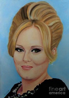 Adele Portrait 1 Original by Vincent Martin