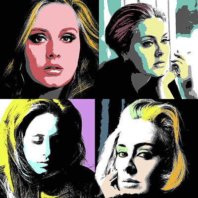 Adele Drawing - Adele by Sherry Shen