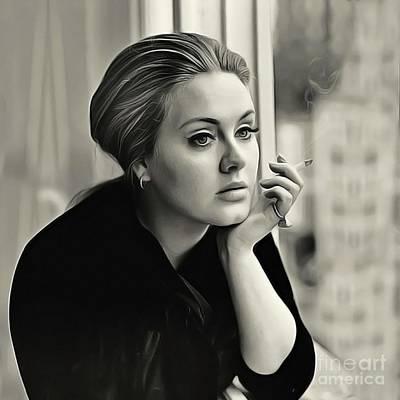 Adele Drawing - Adele by Twinkle Mehta