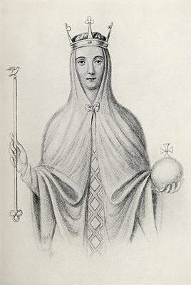 Adela Drawing - Adeliza Of Leuven Also Called Adela And by Vintage Design Pics