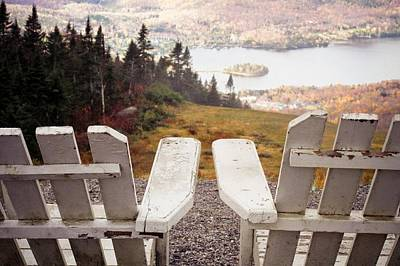 Adirondack Chair On Mountain Top Print by Angela Auclair
