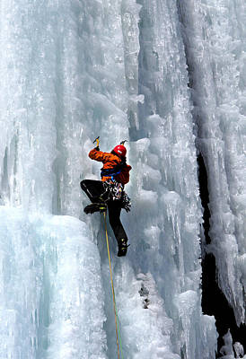 Adirondack Ice Climber  Print by Brendan Reals