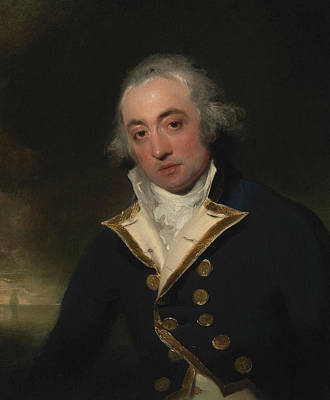 18th Century Painting - Admiral John Markham by Thomas Lawrence