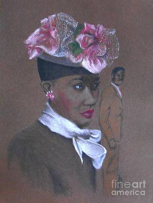 Admirer, 1947 Easter Bonnet -- The Original -- Retro Portrait Of African-american Woman Original by Jayne Somogy