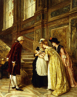 Aristocrat Painting - Admiring The Baby by George Goodwin Kilburne