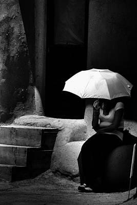 Umbrellas Photograph - Adobe Shade by David Patterson