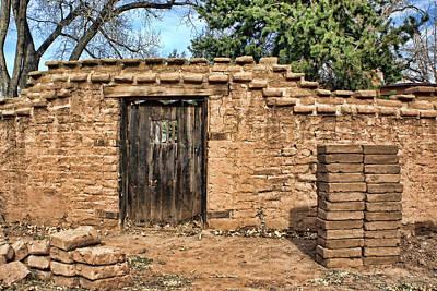 Southwest Gate Photograph - Adobe Wall - Adobe Bricks - Gate by Nikolyn McDonald