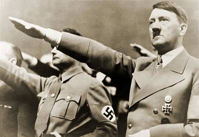 Hesse Photograph - Adolf Hitler, Giving Nazi Salute. To by Everett
