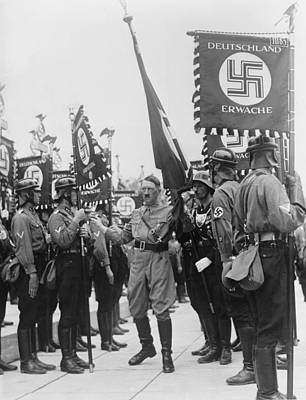 Nazi Party Photograph - Adolf Hitler With Nazi Storm Troopers by Everett