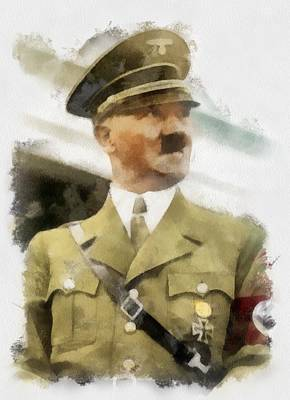 Nazi Painting - Adolf Hitler Wwii by Esoterica Art Agency