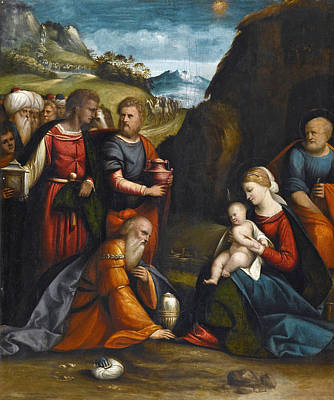 Benvenuto Tisi Painting - Adoration Of The Magi by Benvenuto Tisi