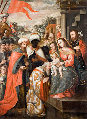 Adoration Magi Painting - Adoration Of The Magi by Cuzco School