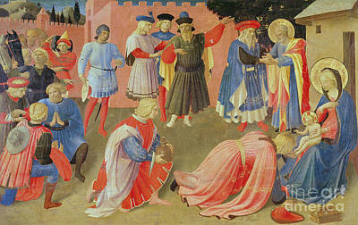 Jesus Art Painting - Adoration Of The Magi by Fra Angelico