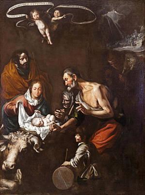 Painting - Adoration Of The Shepherds by Antonio del Castillo y Saavedra