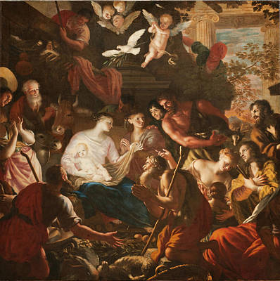 Ferrari Painting - Adoration Of The Shepherds by Lorenzo De Ferrari