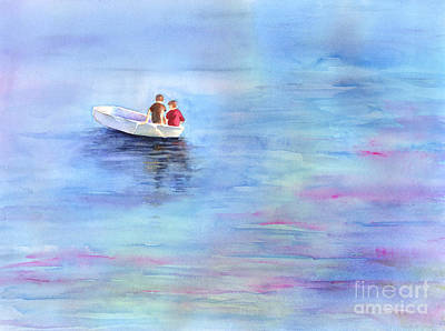 Dinghy Painting - Adrift by Amy Kirkpatrick
