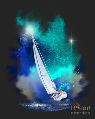 Adrift Print by Barbara Hebert
