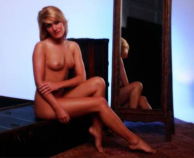 Adult Photograph - Adrina Sits Again by Richard Hemingway