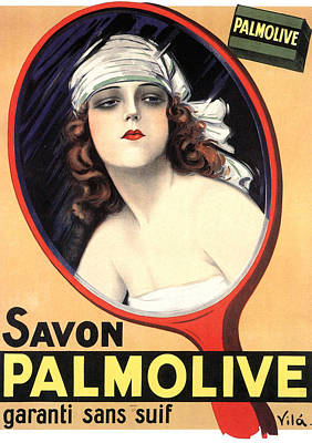 Advertisement For Palmolive Soap Print by Emilio Vila